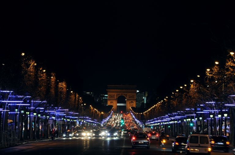 Christmas illuminations Champs Elysees 2011