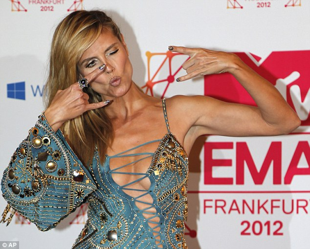 Heidi Klum hosts MTV Europe Music Awards 2012