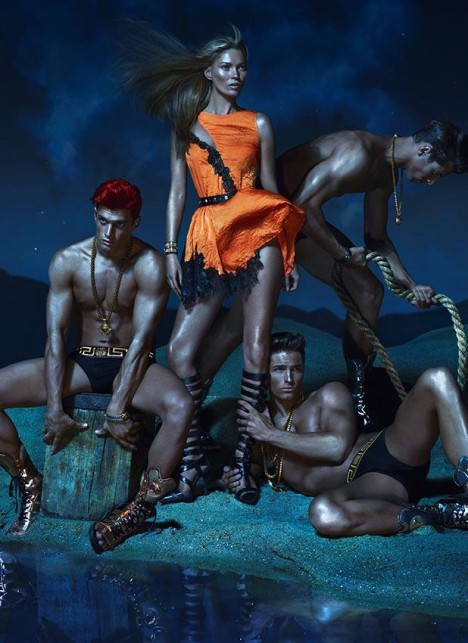 Kate Moss Versace Spring 2013 Campaign