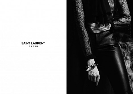 Saint Laurent Vermeil jewelry campaign