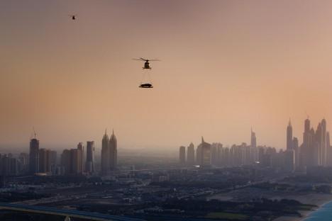 Aston Martin Vanquish Helicopter Dubai