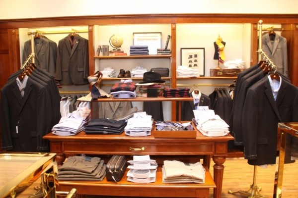 Suit section in Brooks Brothers