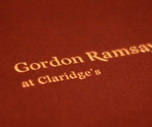 Gordon Ramsay at Claridges