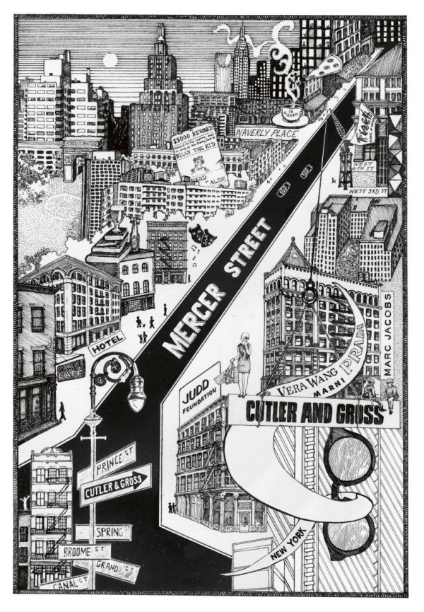 Mercer Street Map by Cutler and Gross