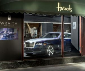 Rolls Royce Wraith Harrods Window