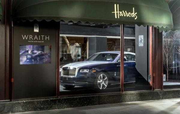 Rolls Royce Wraith Harrods Window