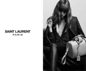 Freja Beha for Saint Laurent