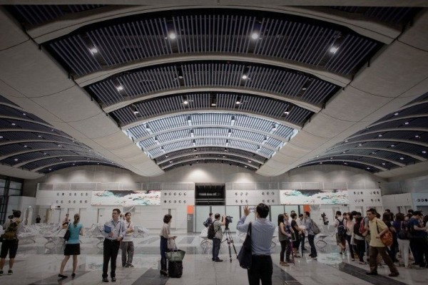 Hong Kong new cruise terminal interior