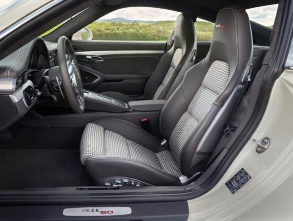 Porsche 911 50 years edition interior