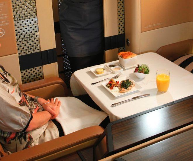 Etihad first class meal