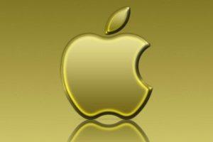 Gold apple logo