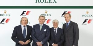 Rolex official F1 timekeeper from 2013