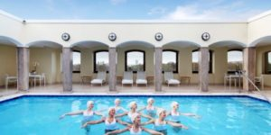 Synchronized swimming at London's Berkeley Hotel