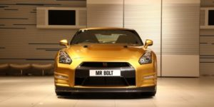 Usain Bolt Gold Nissan GT-R sells for $193,000