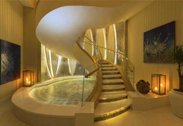 St Regis suite Abu Dhabi Grand Staircase