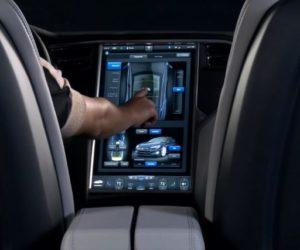 Tesla Model S touch screen