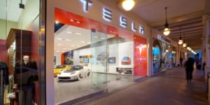 Tesla opens first London store