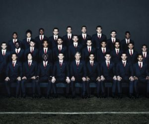 The Arsenal players wearing Lanvin