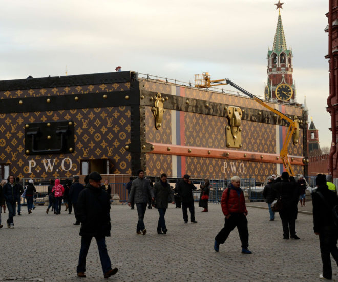 Louis Vuitton Trunk Red Square Moscow