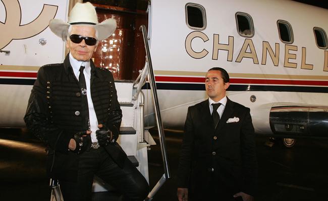karl lagerfeld Chanel jet