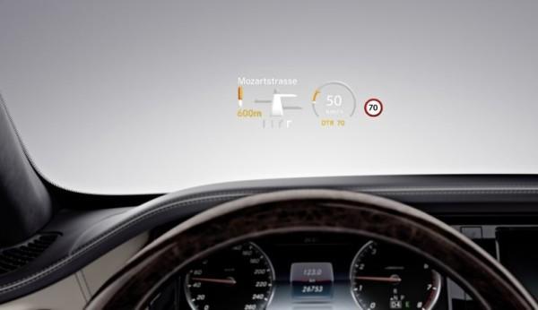 Mercedes S600 driver display
