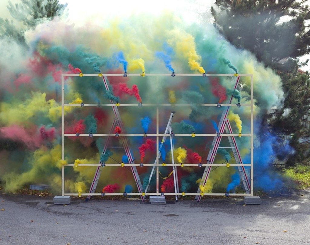 Smoke Bombs By Olaf Breuning 3