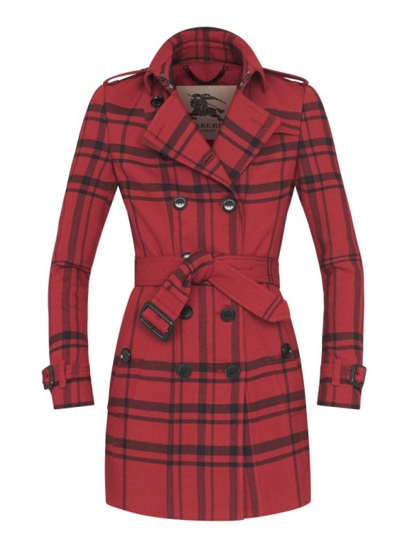 red check raincoat