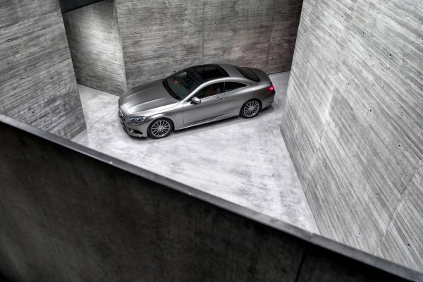 Mercedes Benz S class Coupe S500 top view