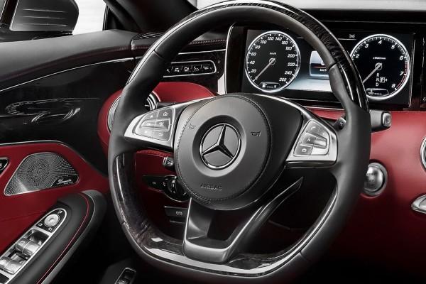 Mercedes Benz S class Coupe steering wheel