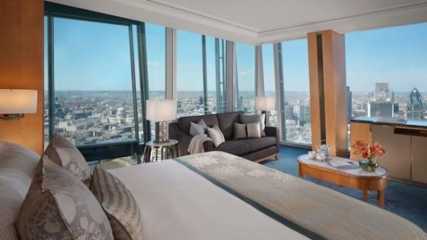 Shangri La Shard bedroom
