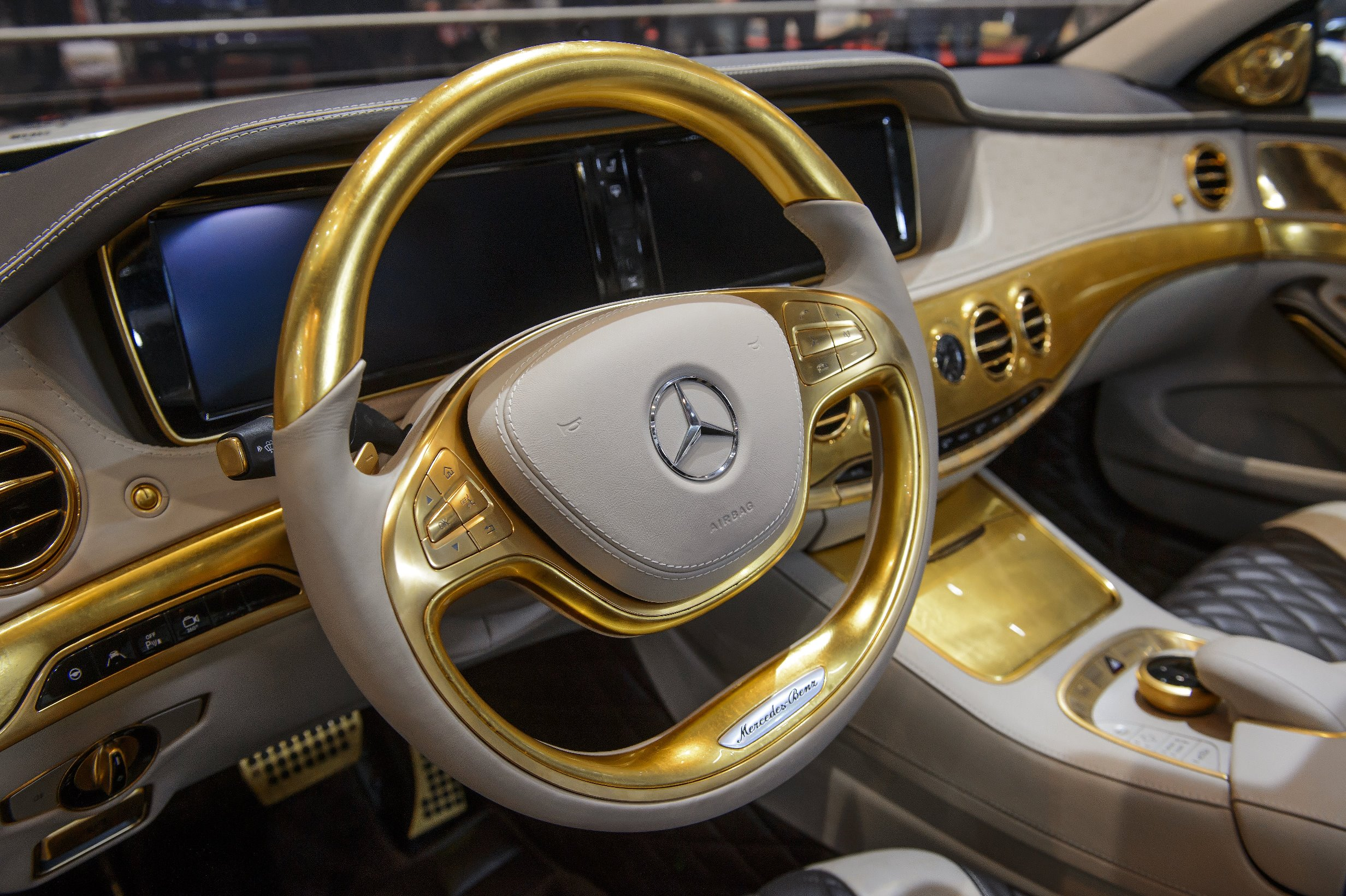 this mercedes is covered in real goldcarlsson cs50 versailles interior