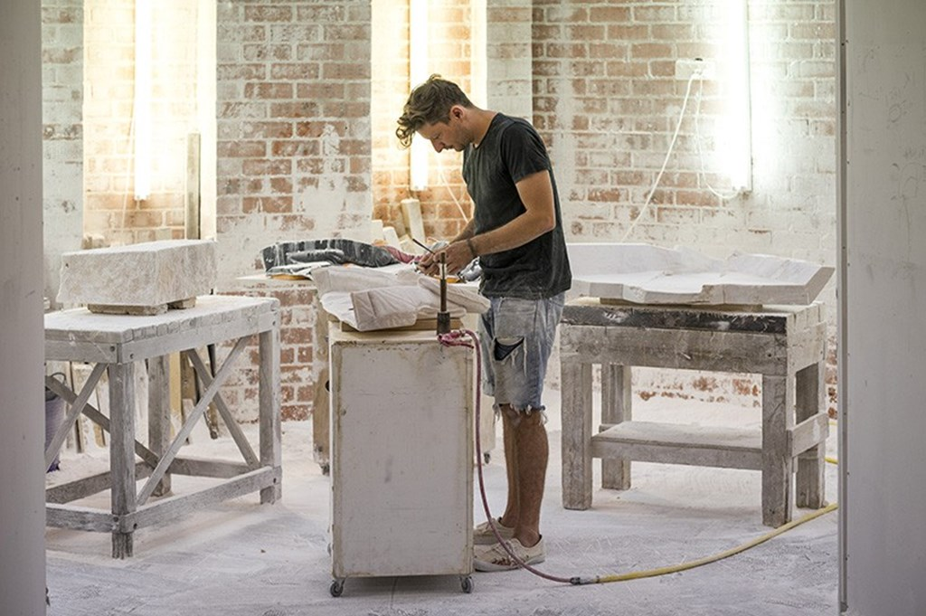 Alex Seton Carves 28 Marble Lifejackets Designboom 05