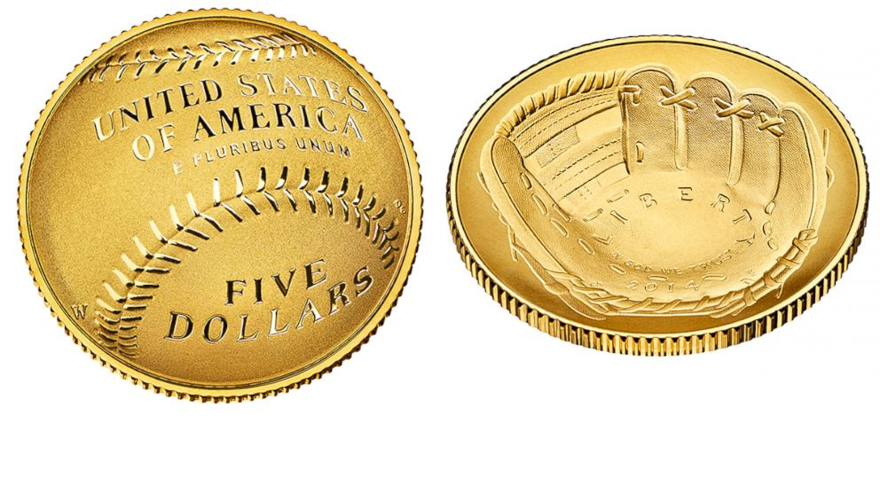 curved gold coins