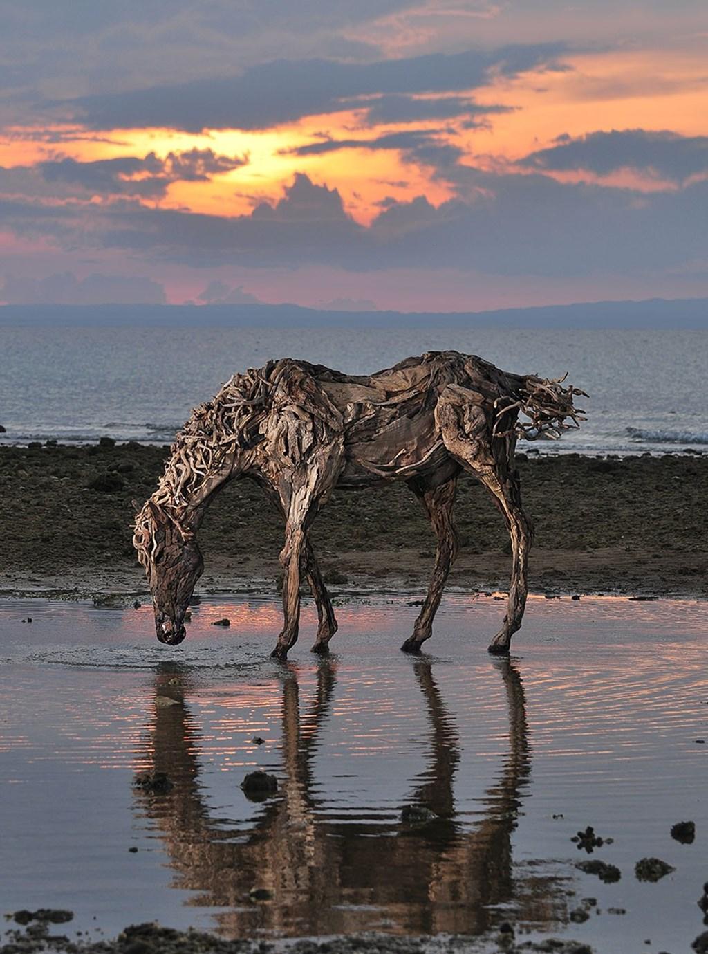 Driftwood Sculptures Horses James Doran Webb 2