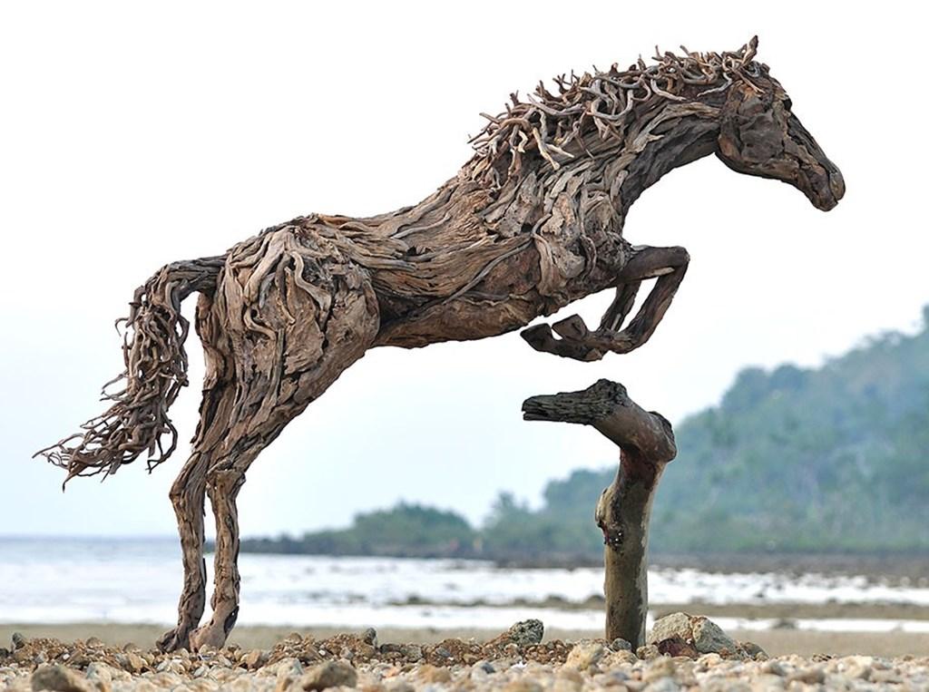 Driftwood Sculptures Horses James Doran Webb 4