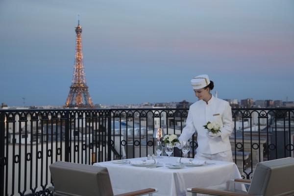 Peninsula Paris terrace