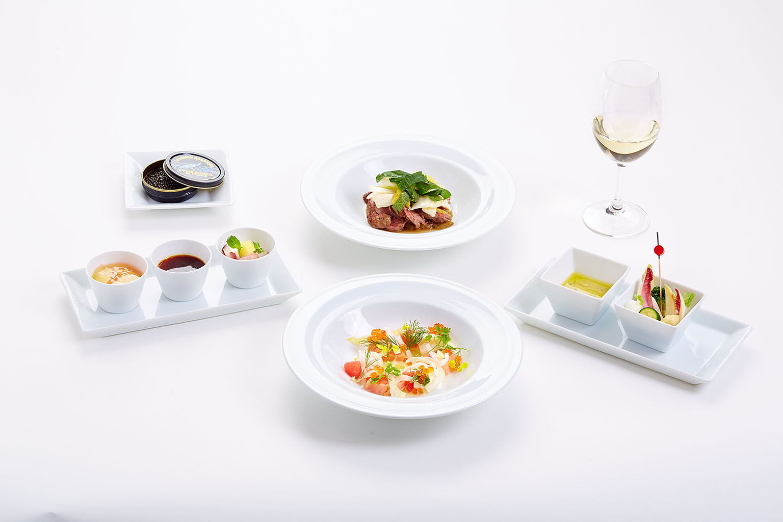 in-flight menu for Japan Airlines