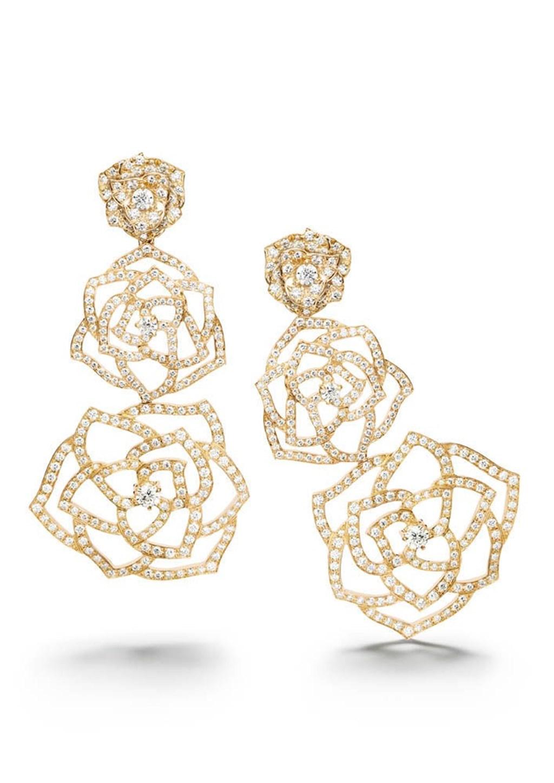 Piaget Rose Dentelle earrings