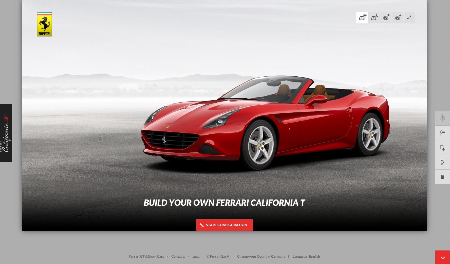 California T online configuration tool