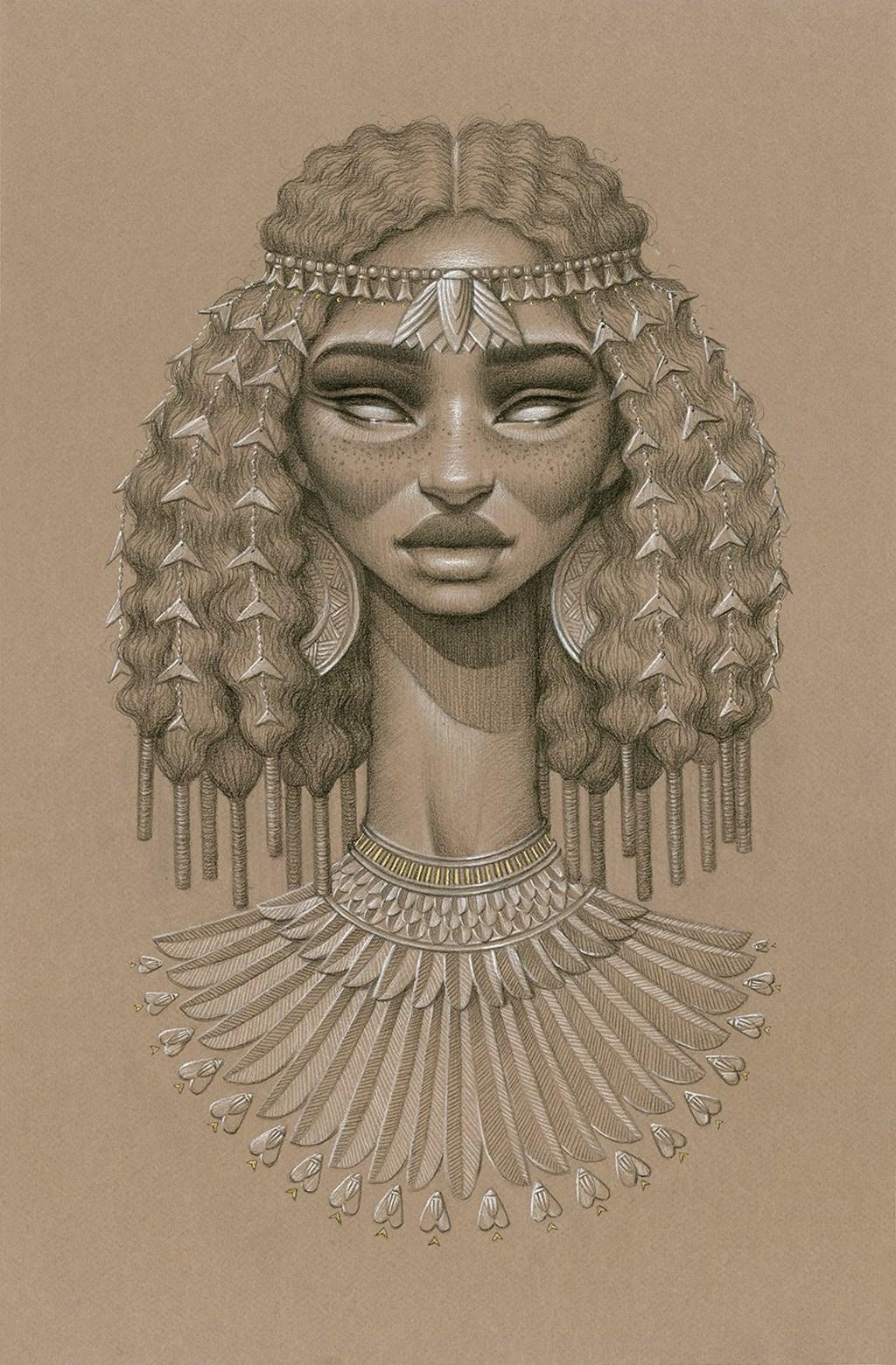 Sundust Striking Charcoal Cont Portraits Of Sun Goddesses By Sara Golish