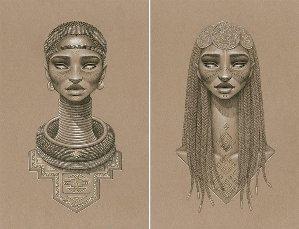 Sundust Striking Charcoal Cont Portraits Of Sun Goddesses By Sara Golish 1
