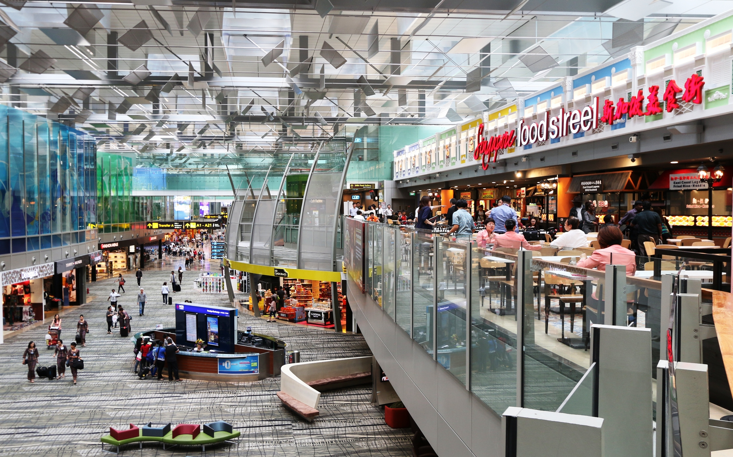 Singapore Airport Opens Street Hawker Style Food Court
