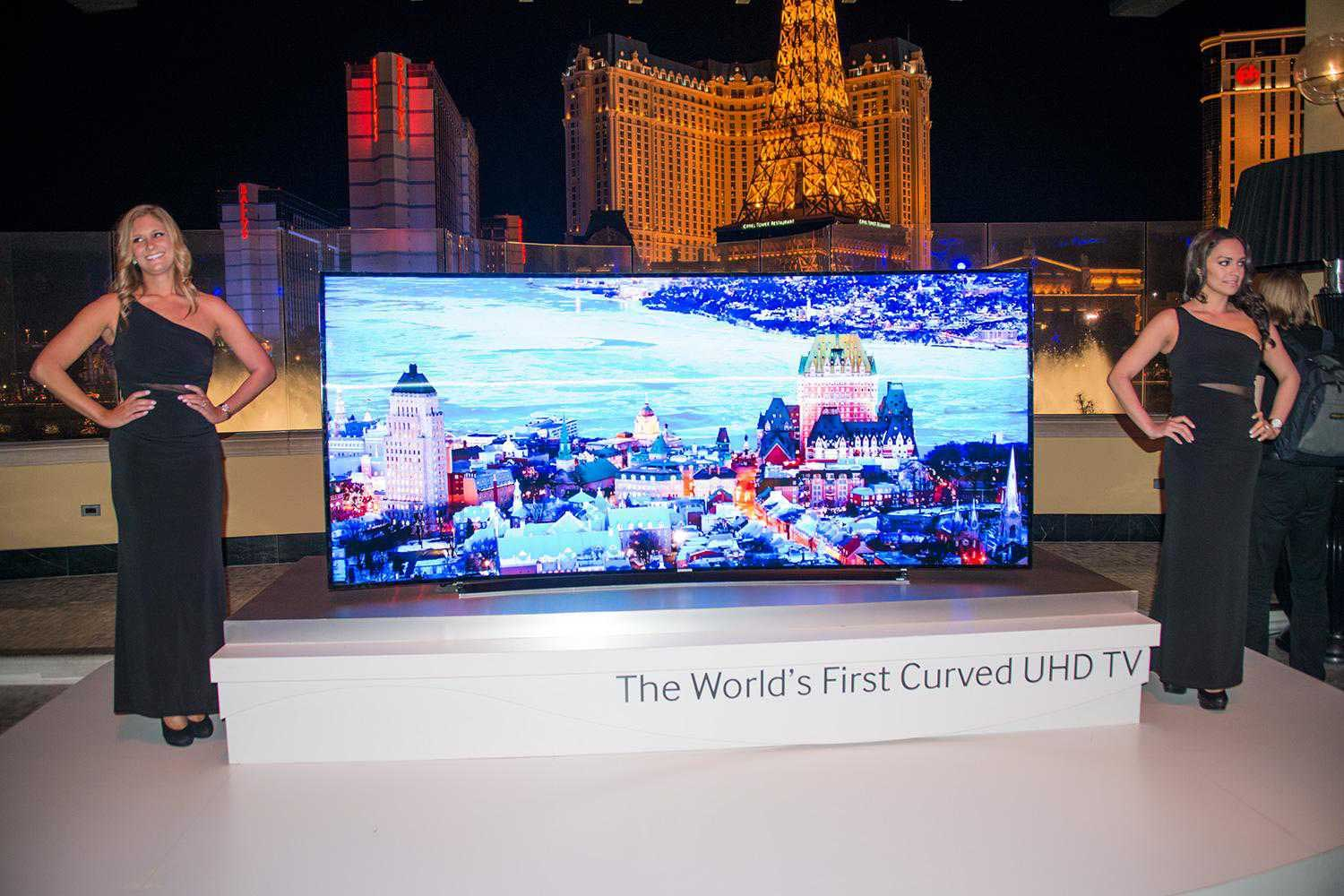 world first curved UHD TV