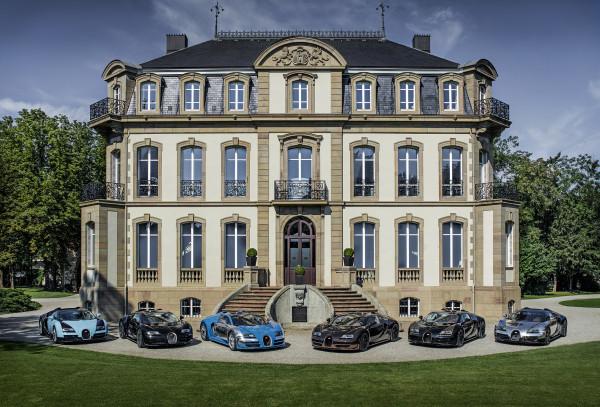 all six bugatti legends together