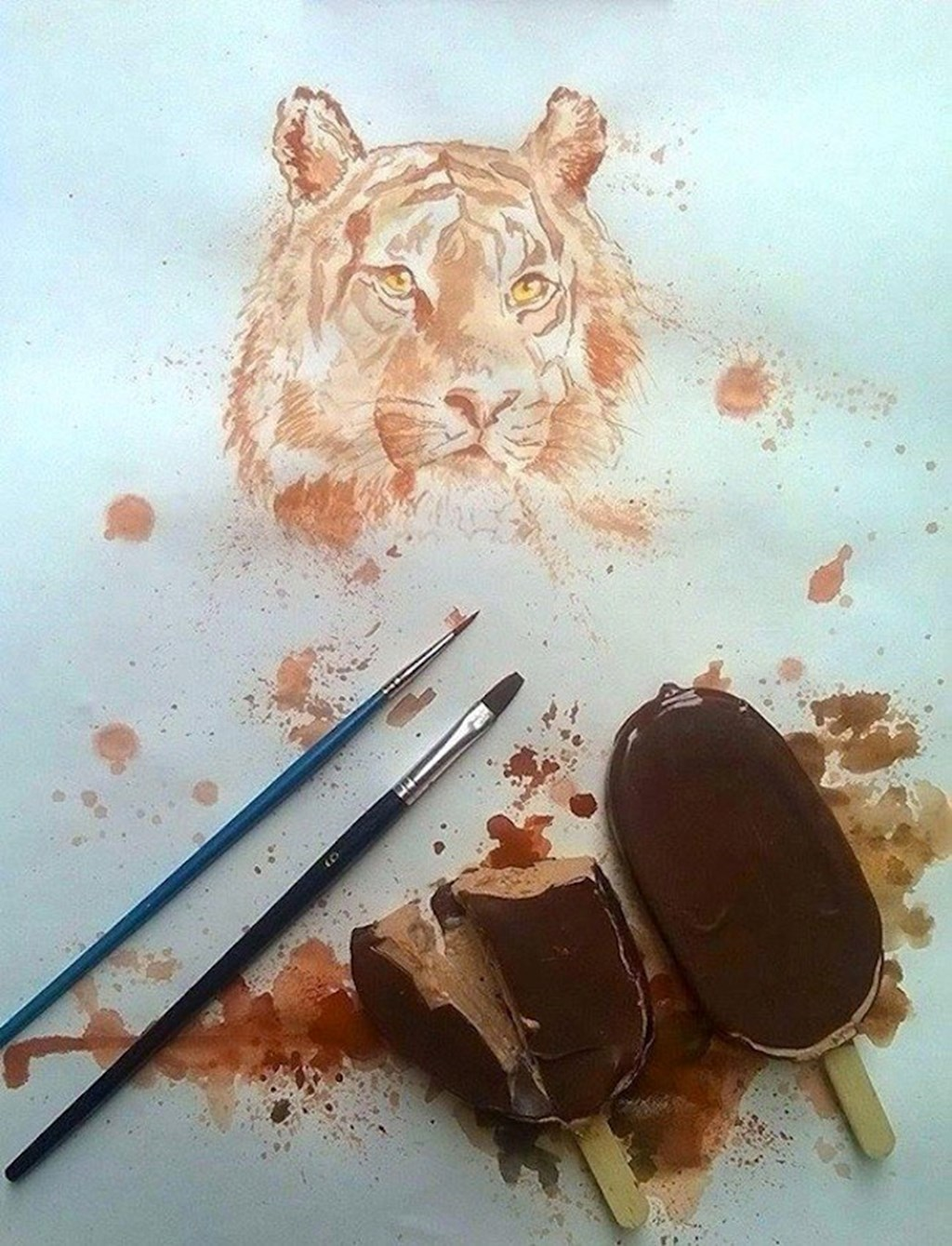 Paintings Made From Melted Ice Cream
