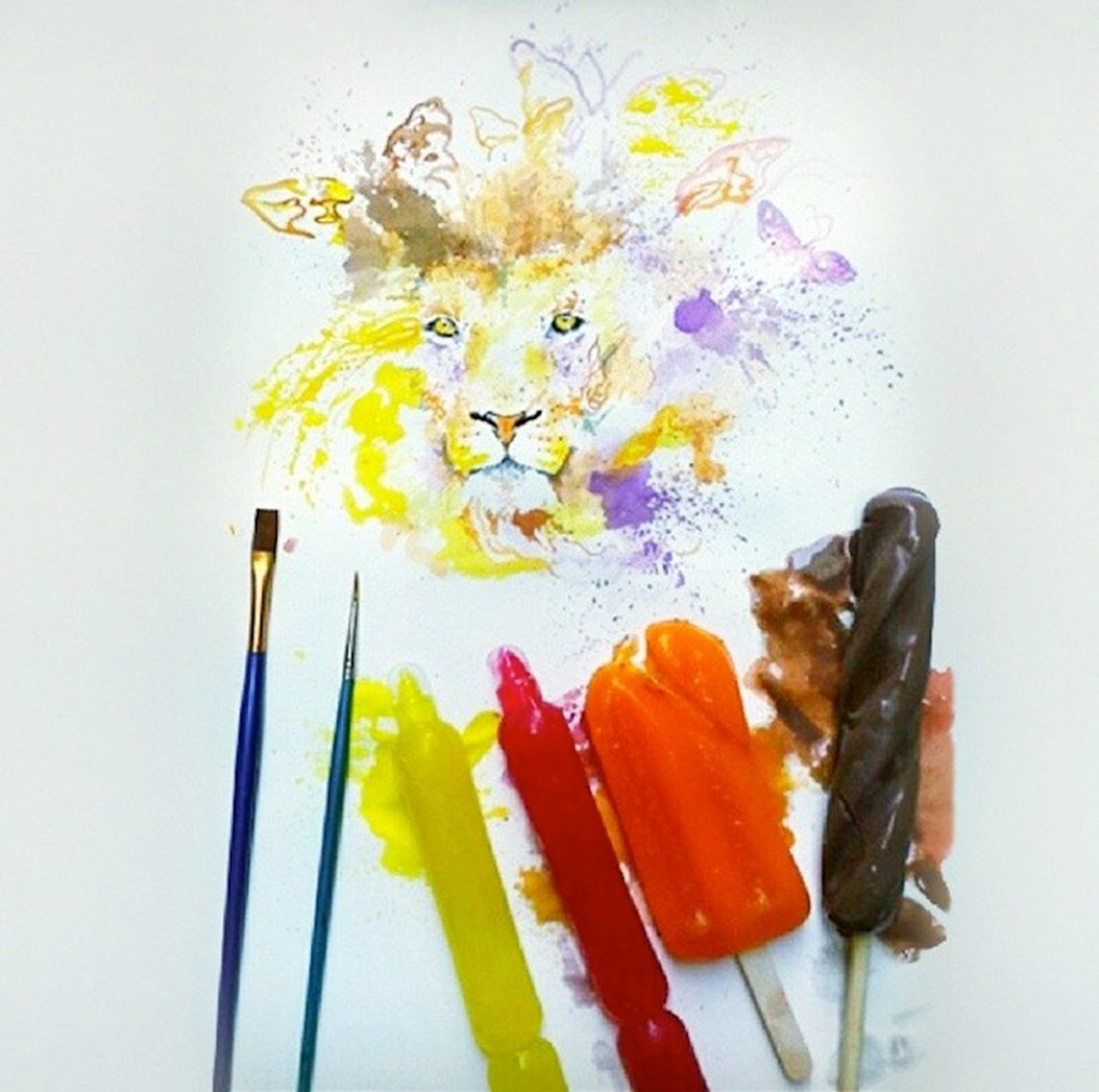 Paintings Made From Melted Ice Cream 1