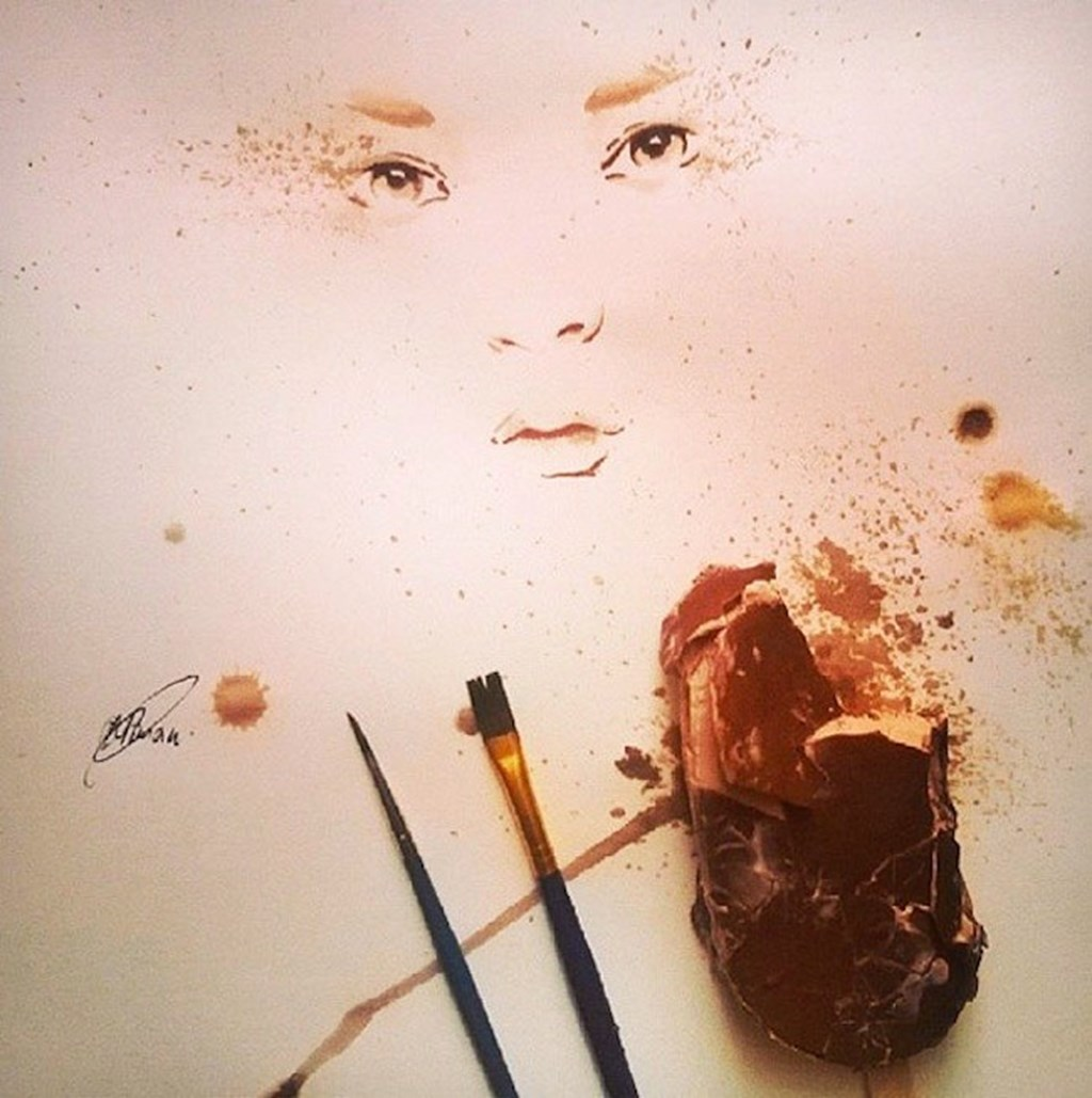 Paintings Made From Melted Ice Cream 3