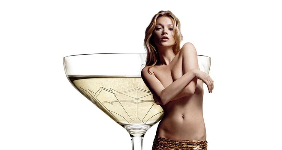 champagne glass inspired by Kate Moss