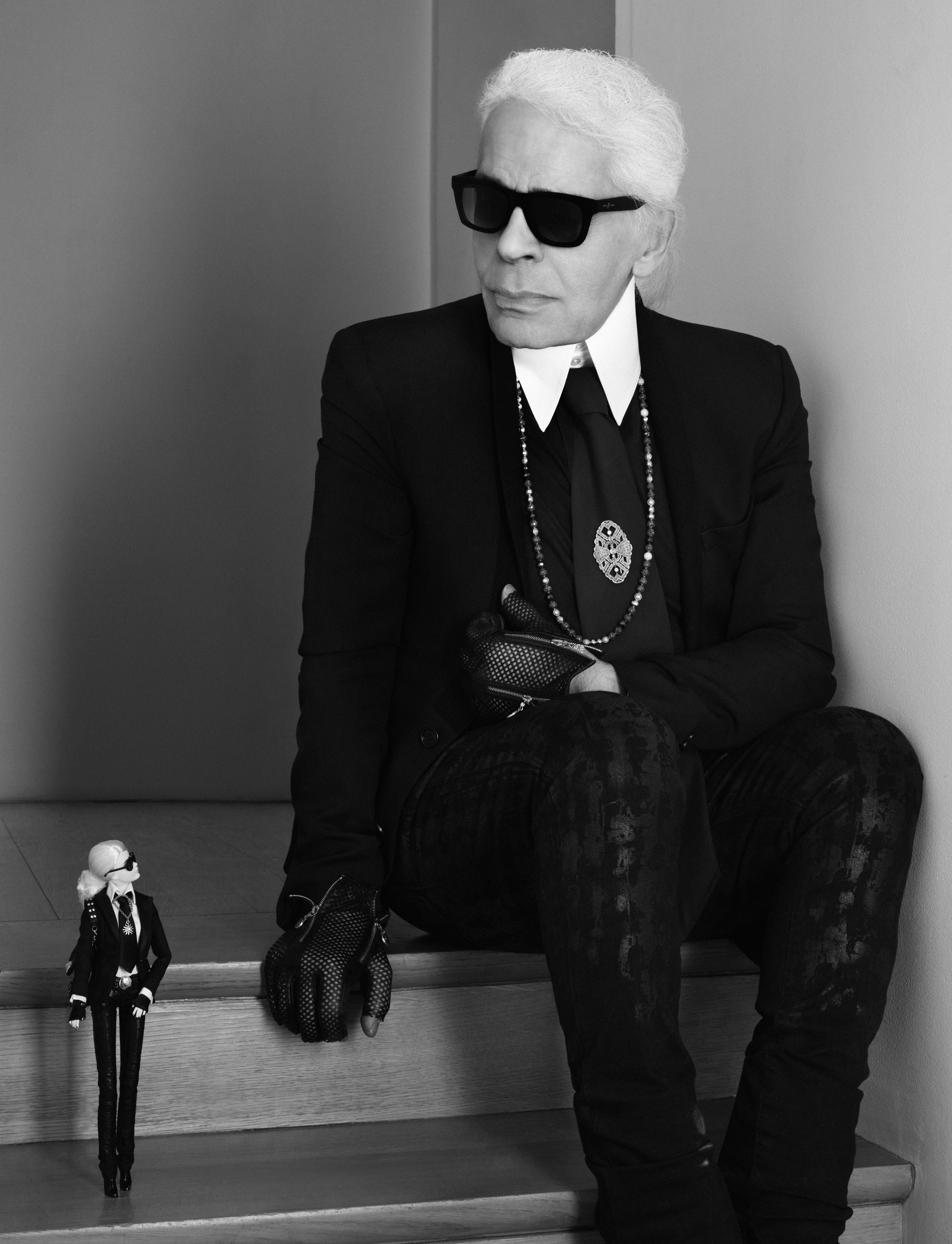 Karl Lagerfeld with Barbie