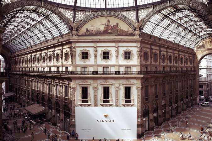 Versace Opens New Milan Store In Historic Setting